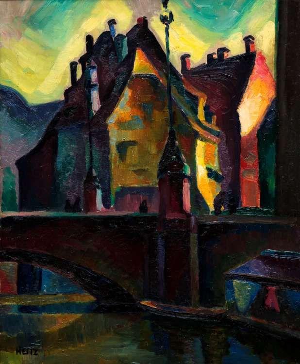 strasbourg pont du corbeau robert heitz 1920 30 peintres alsaciens pinterest peinture. Black Bedroom Furniture Sets. Home Design Ideas