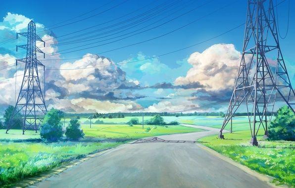 Photo Wallpaper The Game Everlasting Summer Road Endless Summer Arsenixc Anime Pejzazhi Foto Otrazheniya Fonovye Izobrazheniya