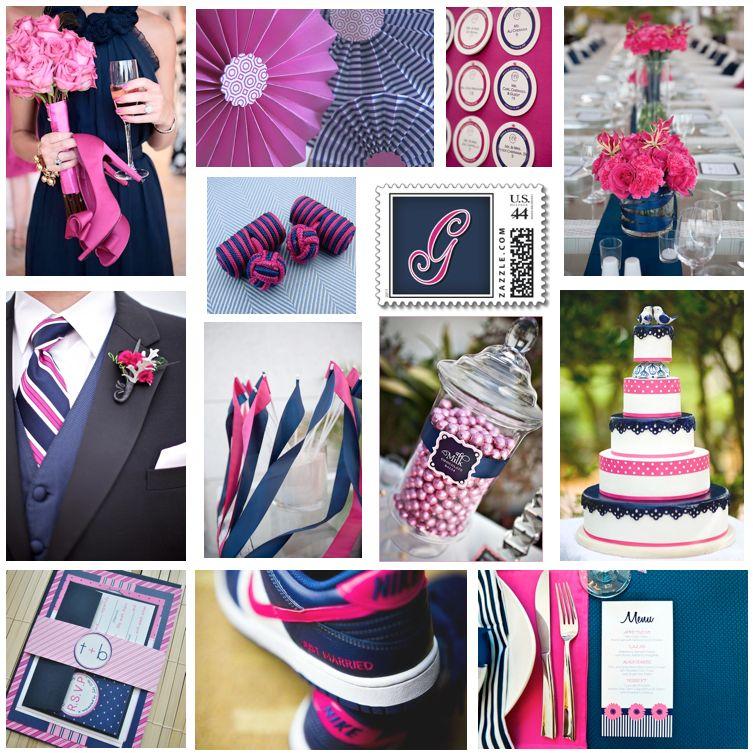 'Navy & Pink' Wedding Inspiration Board Created By Ebony