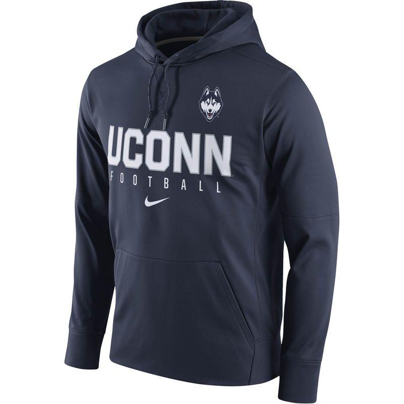 UConn Huskies Nike Circuit Performance Pullover Hoodie Navy  hot sale
