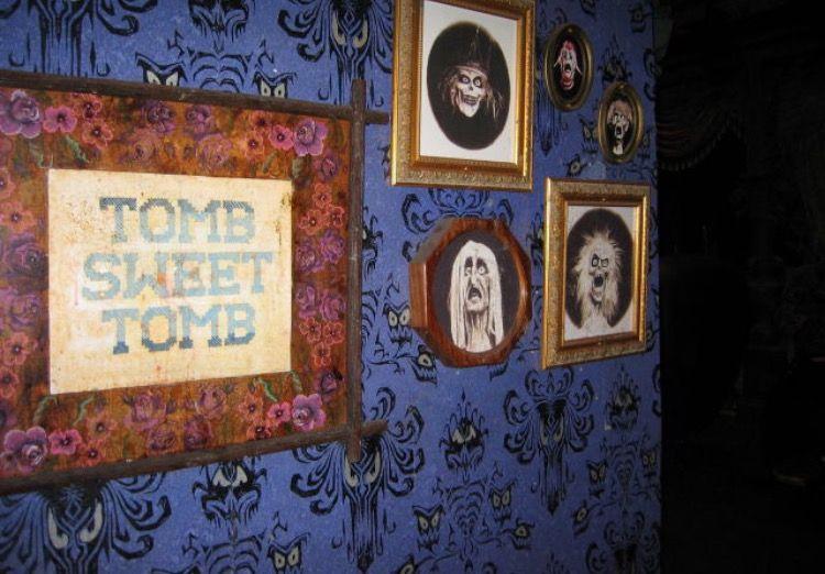 Disneyland Close Historic Calif Bungalow 9: Creepy Decor, Haunted Mansion