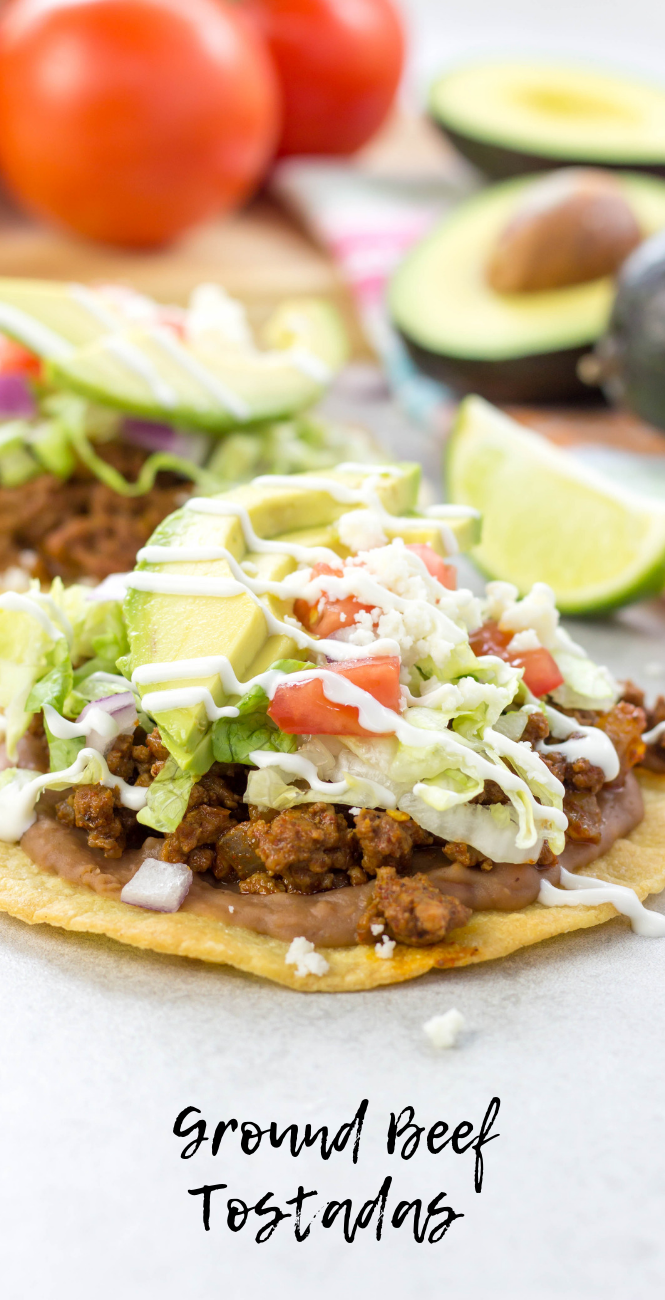 Ground Beef Tostadas #groundbeeftacos