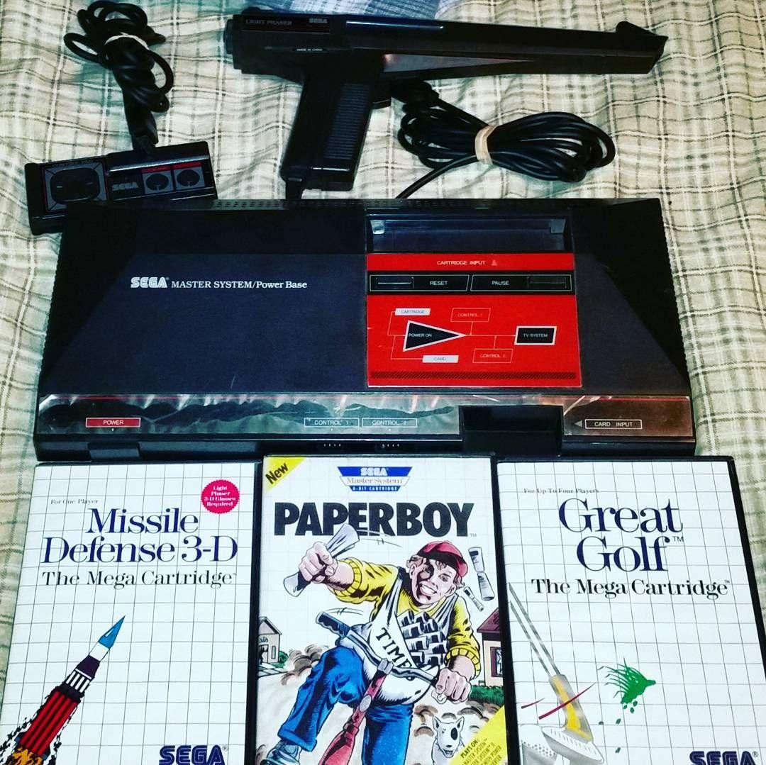 On instagram by bgfalls #mastersystem #microhobbit (o) http://ift.tt/204Ljd2 #segamastersystem  #retro #vintage #gamer #missiledefense #3d #paperboy #greatgolf #8bit #videogames #collector
