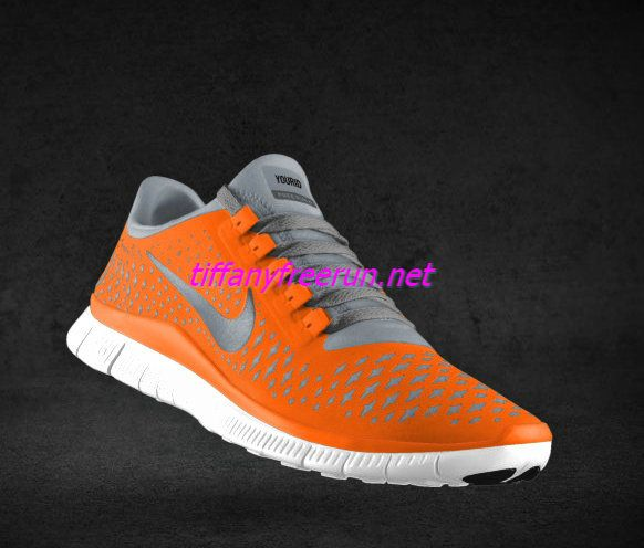 b7f34c8e95384 Womens Nike Free 3.0 V4 Total Orange Reflective Silver Pro Platinum Walnut  Lace Shoes