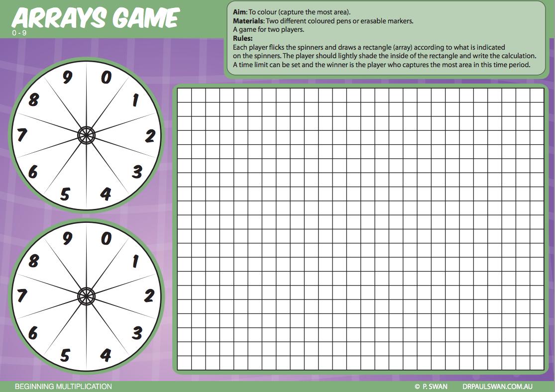 FREE******** Australian curriculum - Mental maths - Using arrays to ...