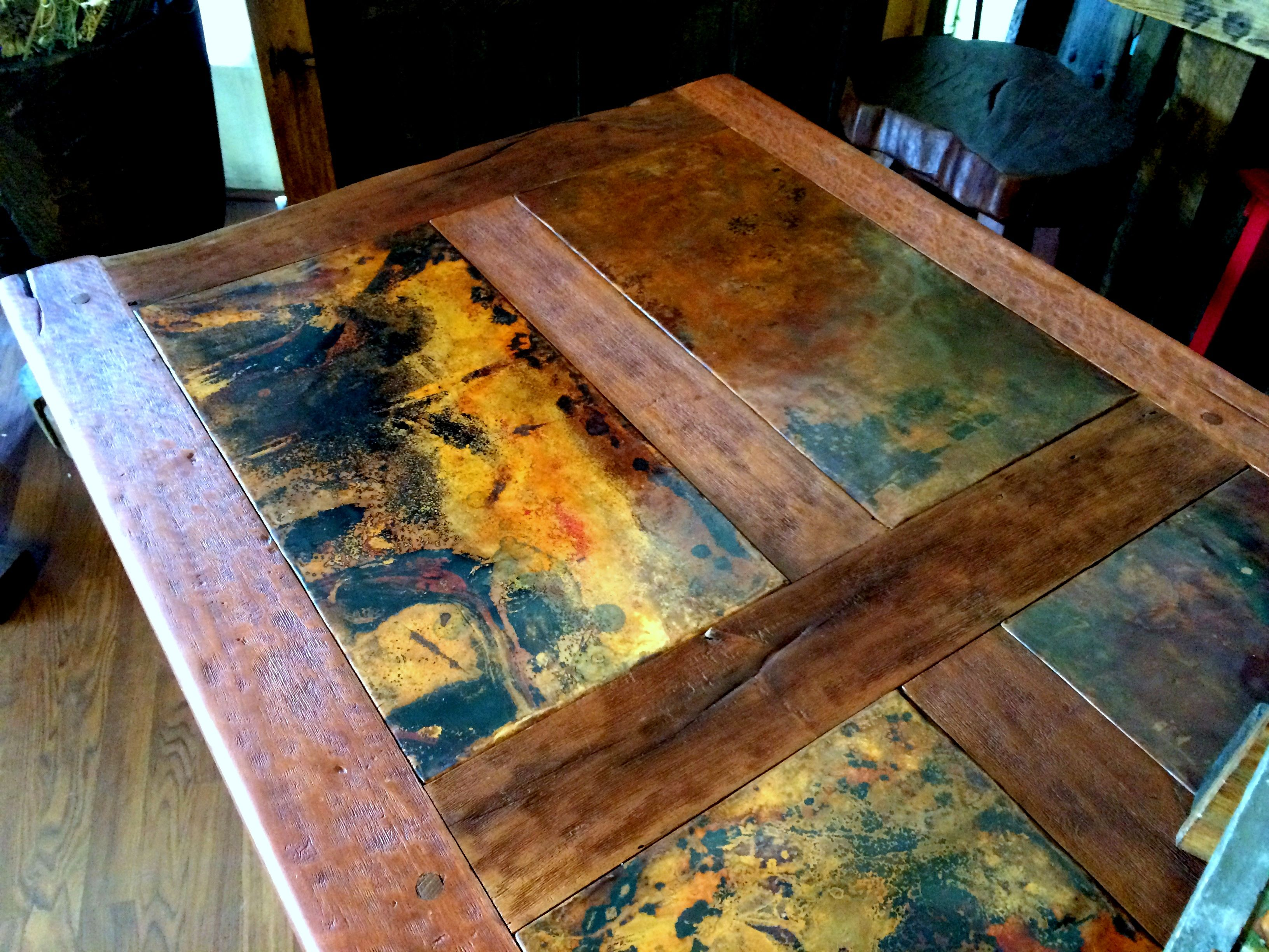 Beautiful Rustic Handmade Table With Stone Top. At Mexico Lindo Store On  Cerrillos Road In