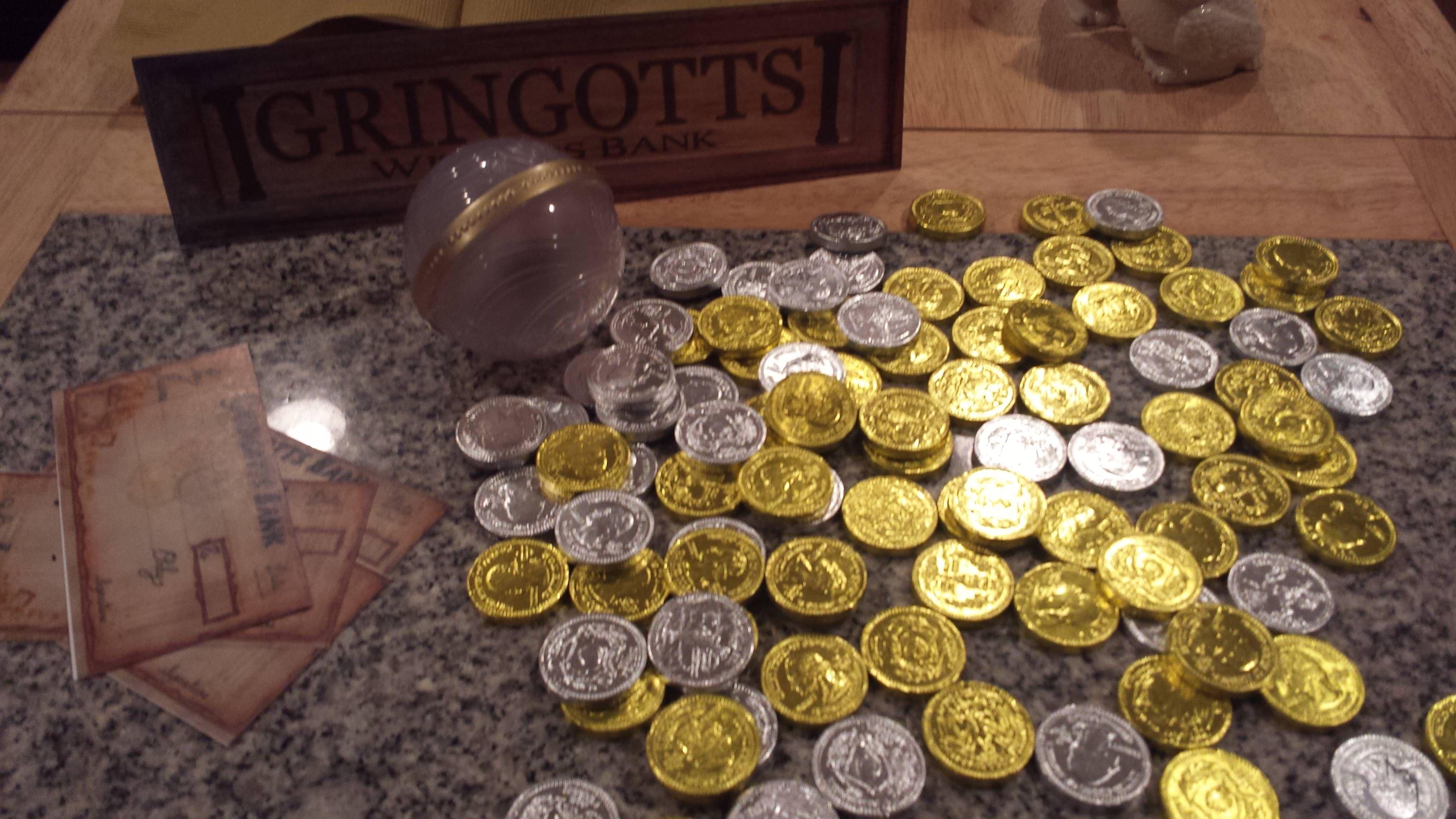 (Harry Potter) Bocaditos: monedas de chocolate