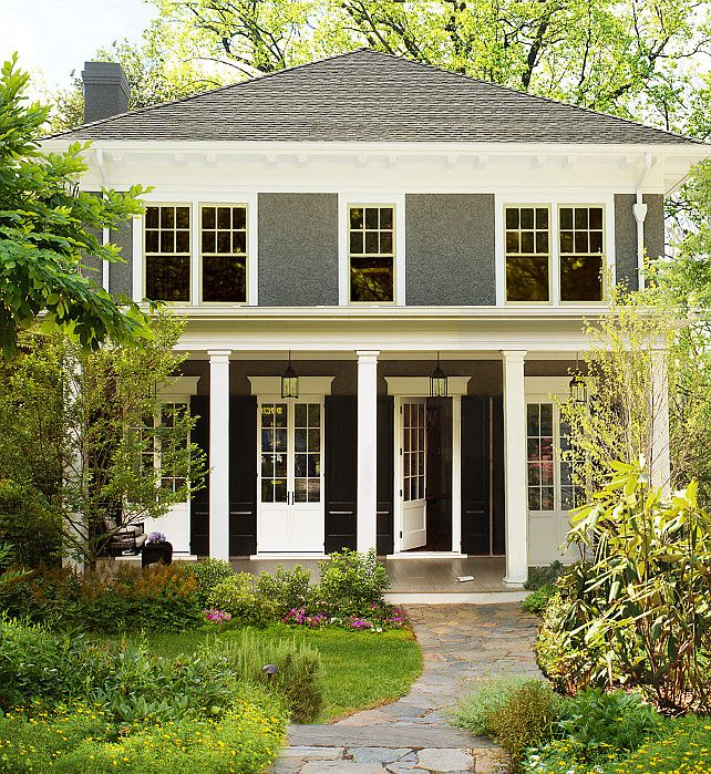 Benjamin Moore Simply White The Color Of The Year Home Exterior Paint Color The Stucco Color Is