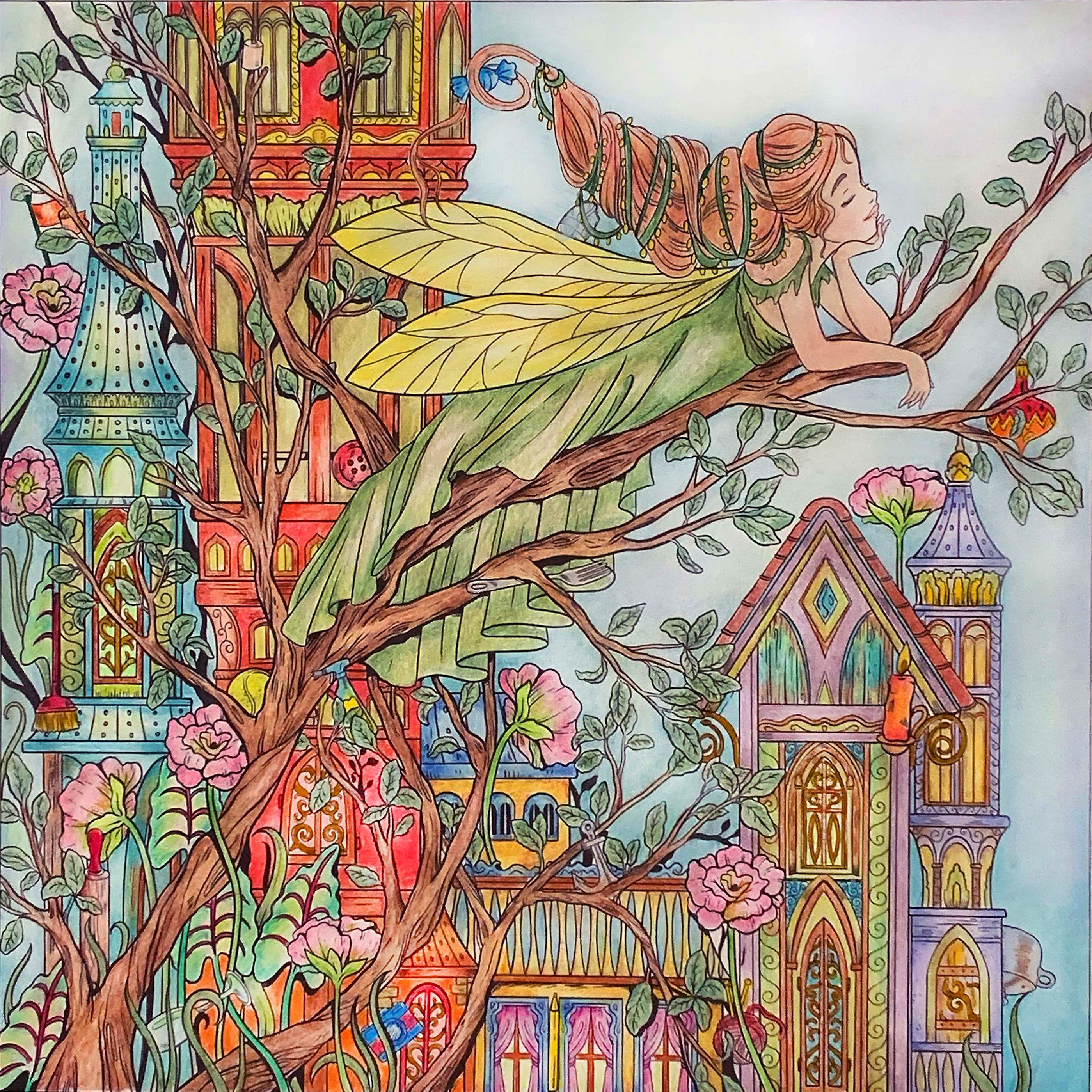 Fairy Pic From Mythographic Enchanted Castles By Fabiana Attanasio Used Holbein Guanghui Lightfast L Enchanted Castles Coloring Book Art Enchanted Castle