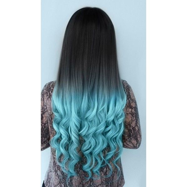 VPfashion Blue-shade Colorful Ombre Indian Remy Clip In Hair ...