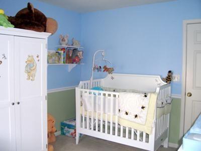 Classic pooh nursery decor our dream come true baby for Classic pooh nursery mural