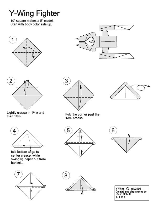 10 Diagrams To Create Your Own Star Wars Origami Proyectos Que