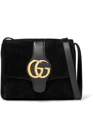 e4628504a5 GUCCI Arli medium leather-trimmed suede shoulder bag. #gucci #bags ...