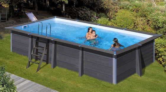 Wpc composite pool rechteckig 6 06 x 3 26 x 1 24 m inkl - Pool rechteckig ...