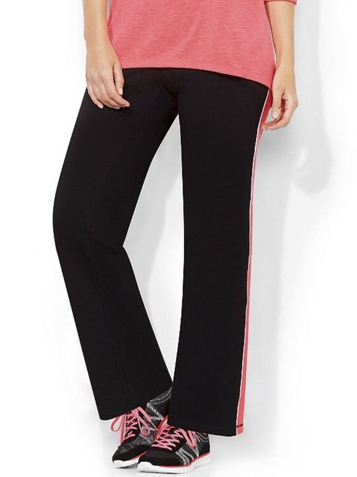 83da16bc9ce CATHERINES NEON PIPING YOGA PANTS - BLACK - PLUS SIZE 5X (34 36W)   Catherines  CasualPants