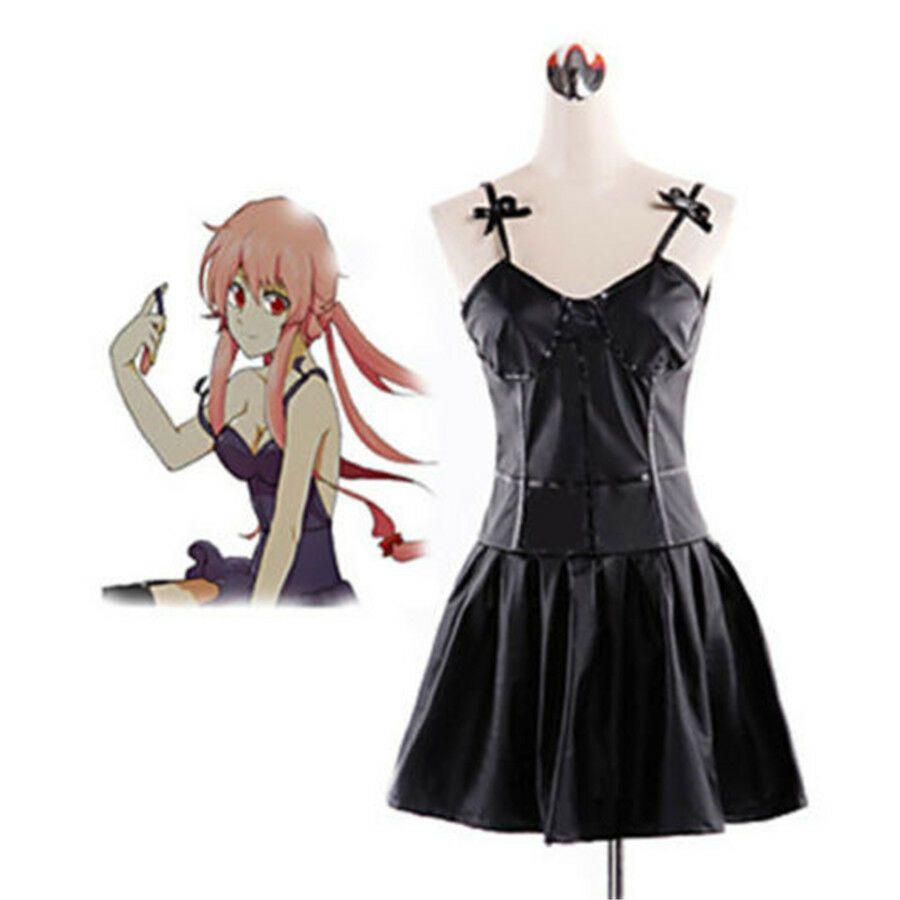 The Future Diary Gasai Yuno Black Dress Cosplay Costume Custom Made Anime Cosplay Costumes Cosplay Costumes Cosplay Outfits [ 900 x 900 Pixel ]