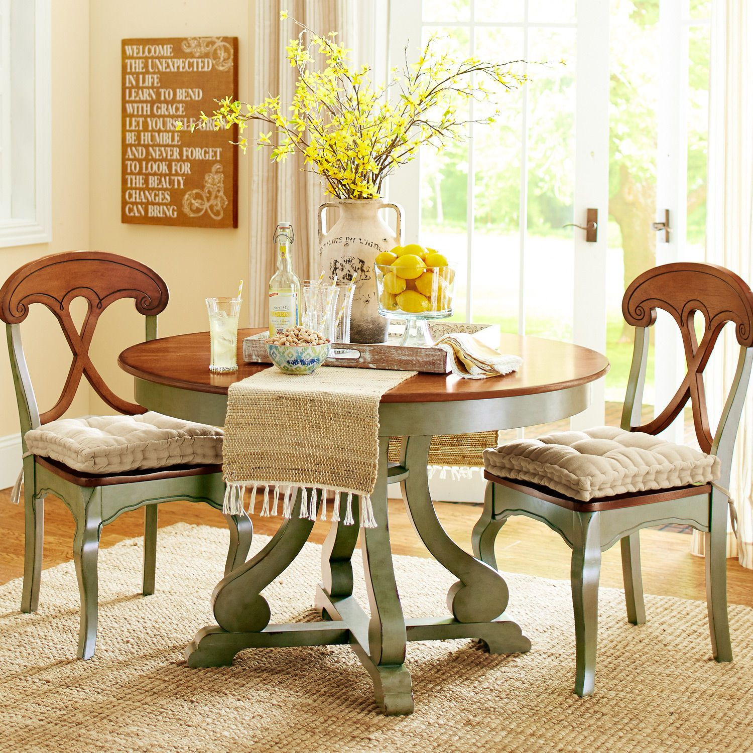 Marchella Sage Round Dining Table Dining Room Sets Dining Room