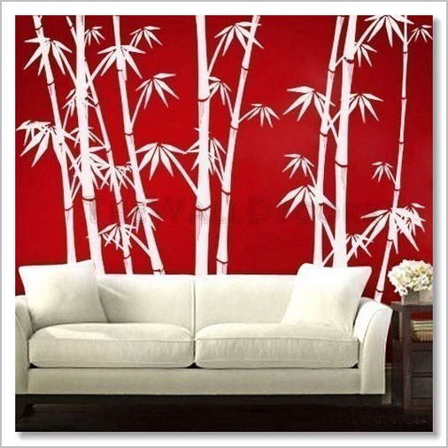 Wall Decals    Oriental Bamboo Forest   Click Image To Close