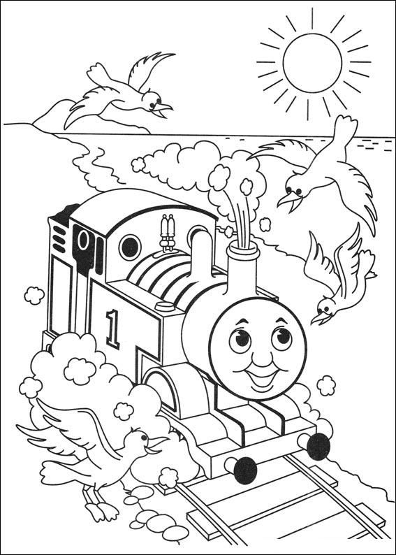 Colour Thomas And Friends Card Making Train Coloring Pages