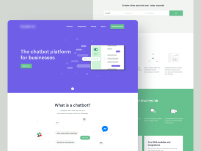 Chatbot Service Homepage Chatbot Website Redesign Homepage Design
