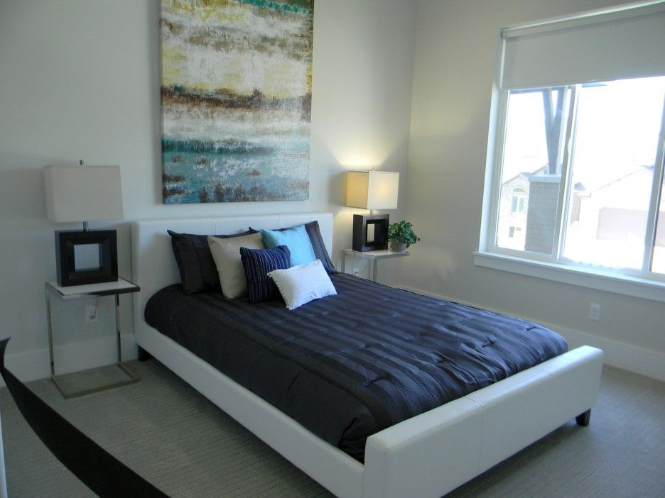 Bedroom Paint Color Ideas For Men Part - 42: Guys Bedroom Design Ideas Comes With White Bed Frames And White Head Boards