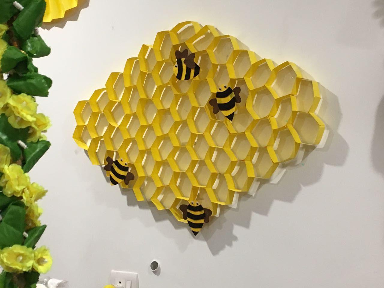 Paper bee hive Crafts, 1st birthdays
