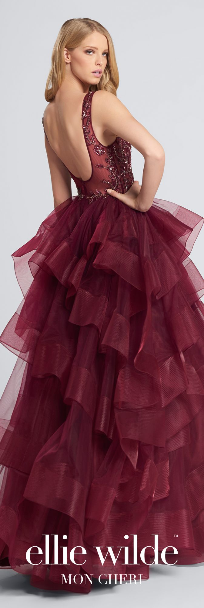 Tulle ball gown prom dress ellie wilde ew ball gown prom