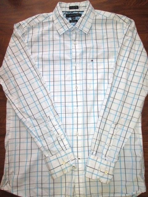 6eb382b5 Tommy Hilfiger 80's 2 ply fabric Custom Fit Plaid Long Sleeve Button Down  Shirt #TommyHilfiger #ButtonFront