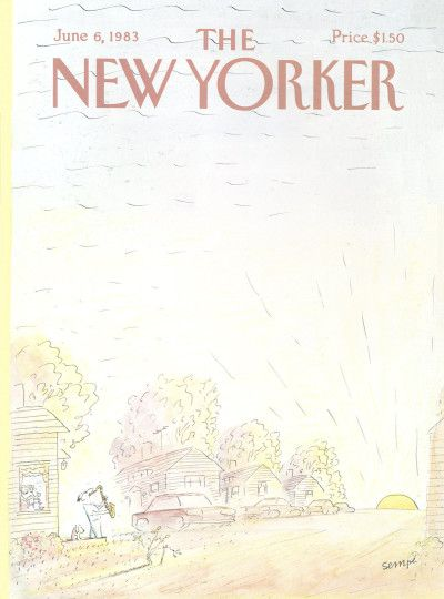 Jean-Jacques Sempé : Cover art for The New Yorker 3042 - 6 June 1983