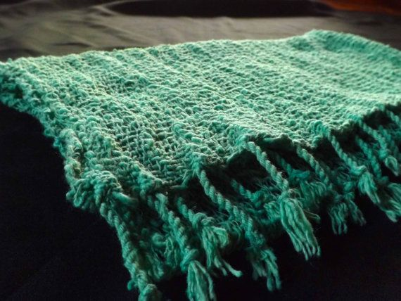 Handmade hill tribe cotton woven shawl of size 64 x 14 inches. This shawl help keep warm from the cold wind