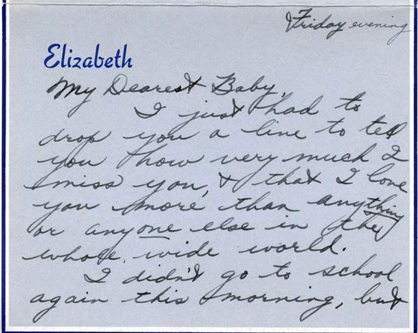 Elizabeth TaylorS  Love Letters To Fianc William Pawley Jr