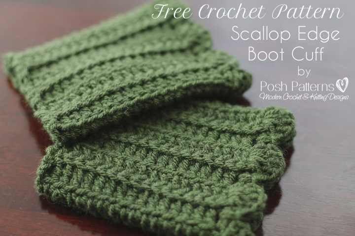 Free Boot Cuffs Crochet Pattern | Moda de punto, Puños y Dos agujas