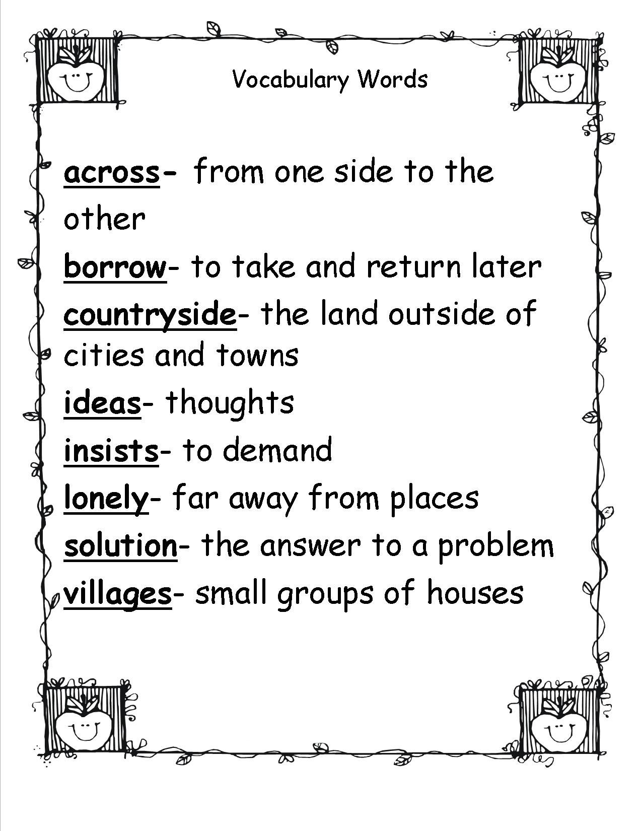 2nd Grade Spelling Words Best Coloring Pages For Kids Vocabulary Words 2nd Grade Spelling Words Spelling Words [ 1650 x 1275 Pixel ]