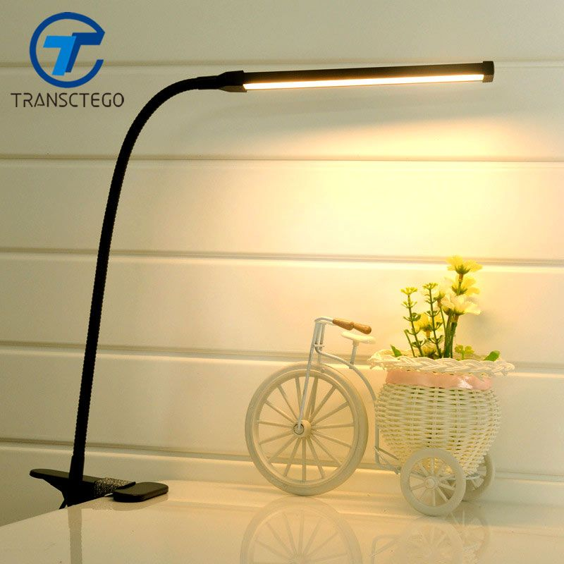 Led Clip Light Type Desk Clamp Lamp Dimming Reading Eye Usb Lamps Table Lights Dimmable 2 Lighting Colors Clamp Lamp Usb Lamp Lamp