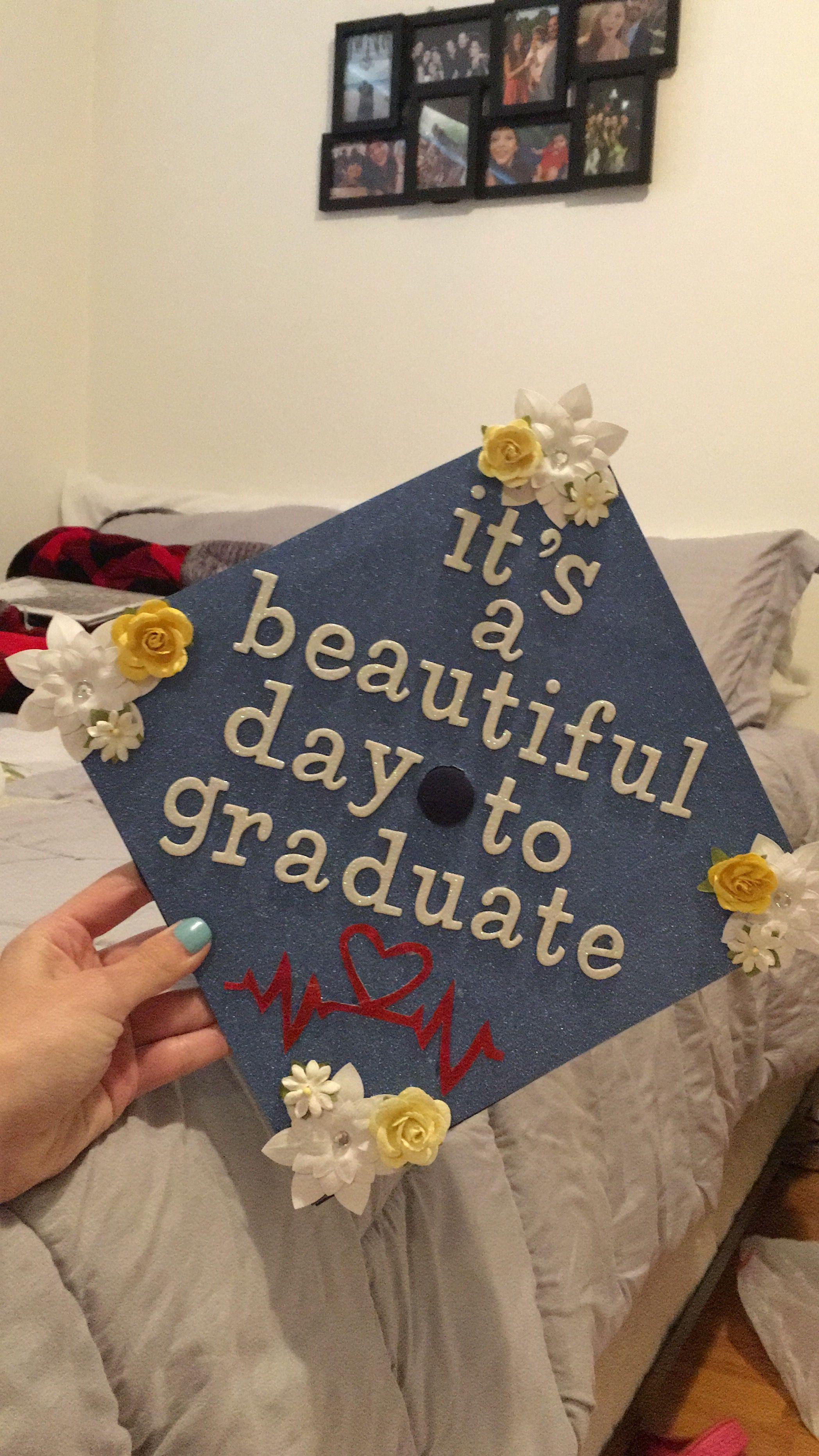 Grad Cap Decoration Greys Anatomy Inspired Graduation