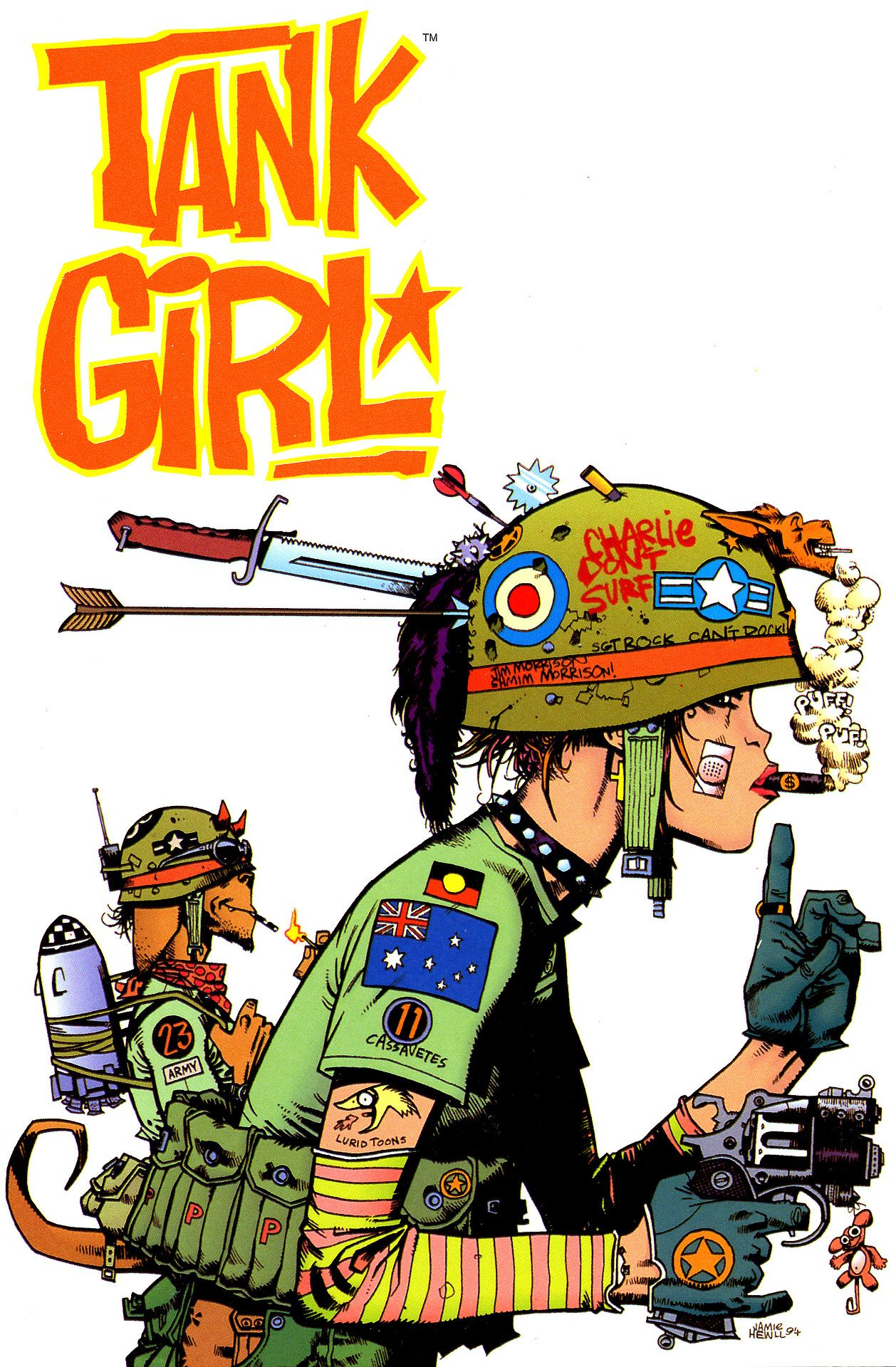 Tank Girl Booga By Jamie Hewlett Tank Girl Comic Tank Girl