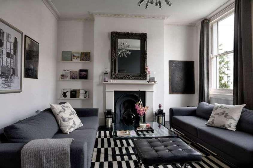 Come arredare il soggiorno con il grigio - Salotto in stile classico