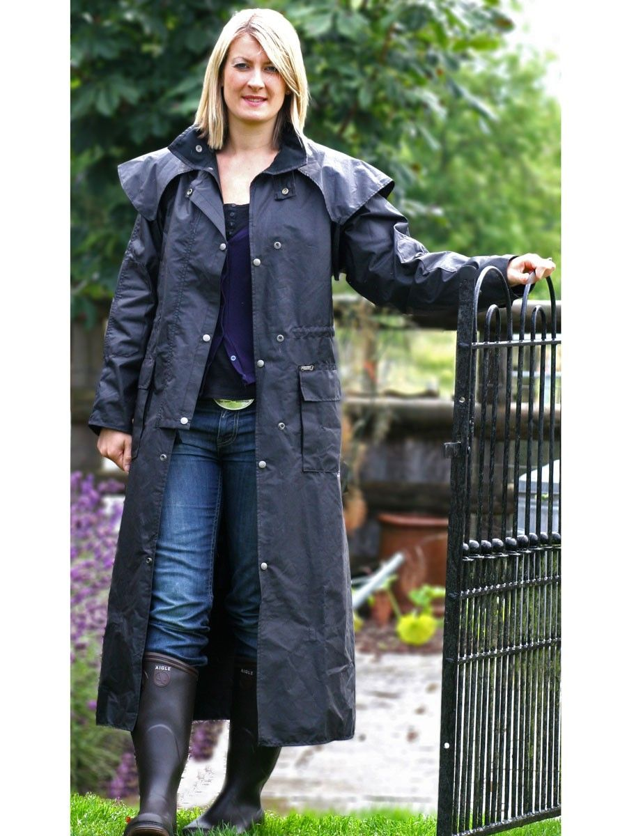 Uk Exclusive Driza Bone Women S Waxed Camden Long Coat