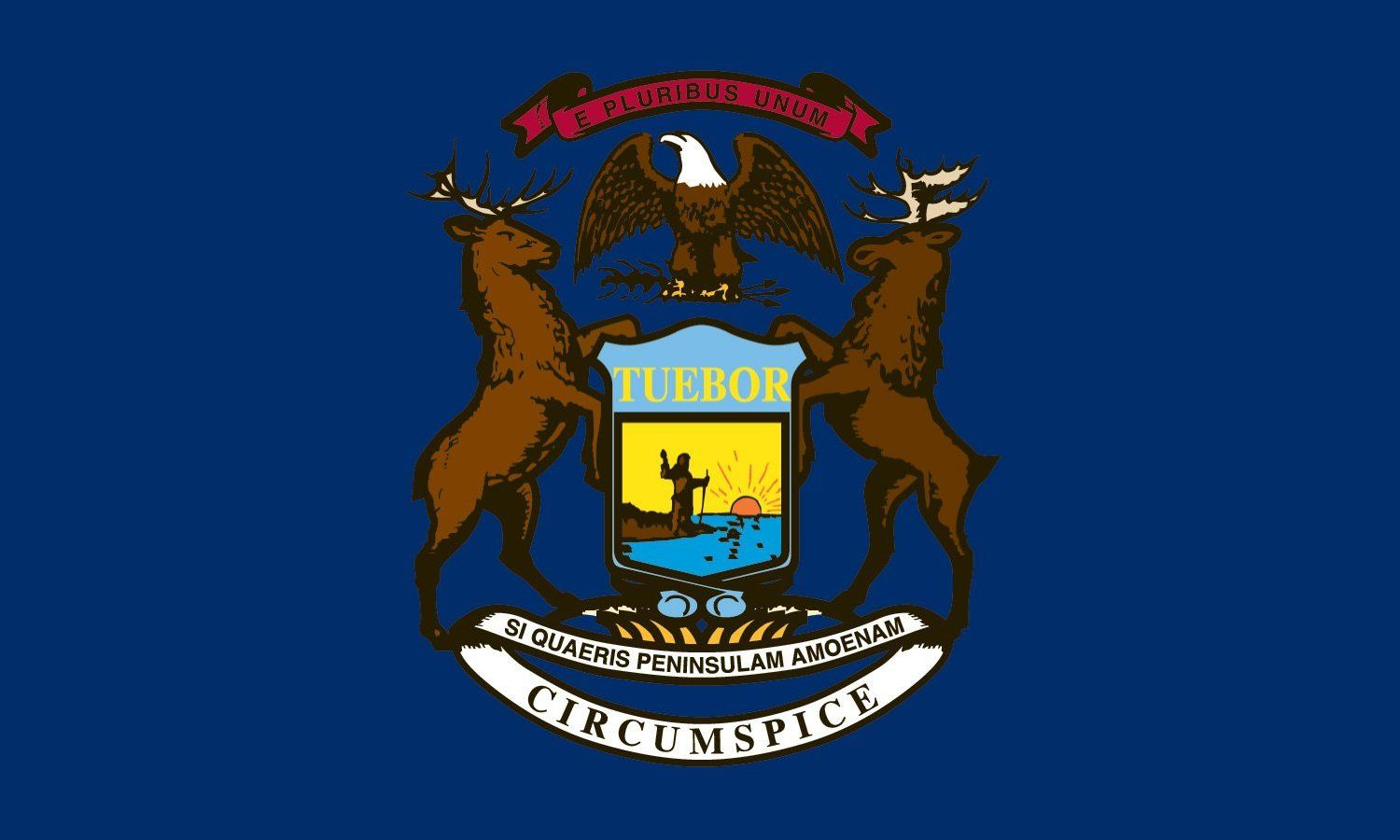 Michigan State Flag Coloring Pages Michigan State Flag Michigan Flag Flag Coloring Pages