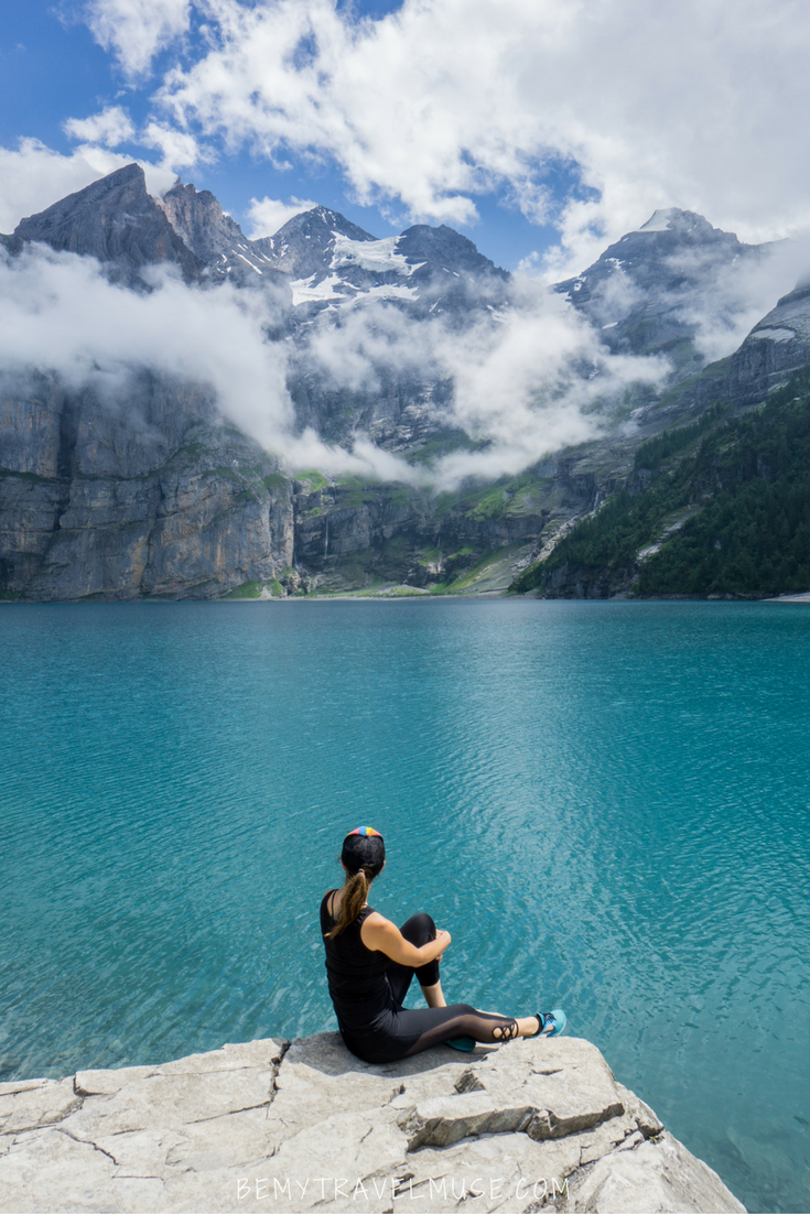 Scouting Waterfalls at Oeschinen Lake, Switzerland is part of Scouting Waterfalls At Oeschinen Lake Switzerland - A guide to Oeschinen Lake in Switzerland  A stunning lake with bright blue water, tons of waterfalls, and glaciers too  This trail takes you to the falls