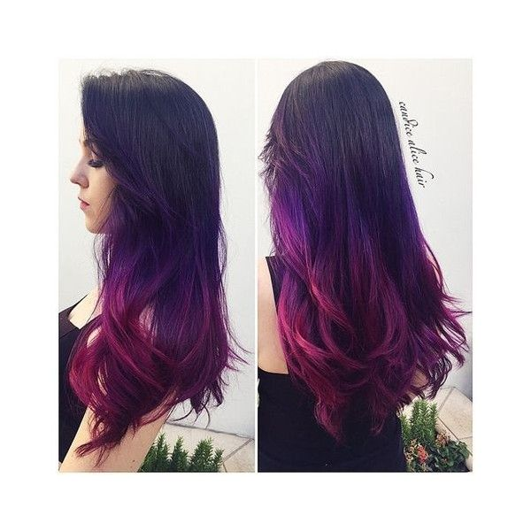 Dark Black Brown to Pastel Ombre Hair Color Trends 2015 ❤ liked on ...