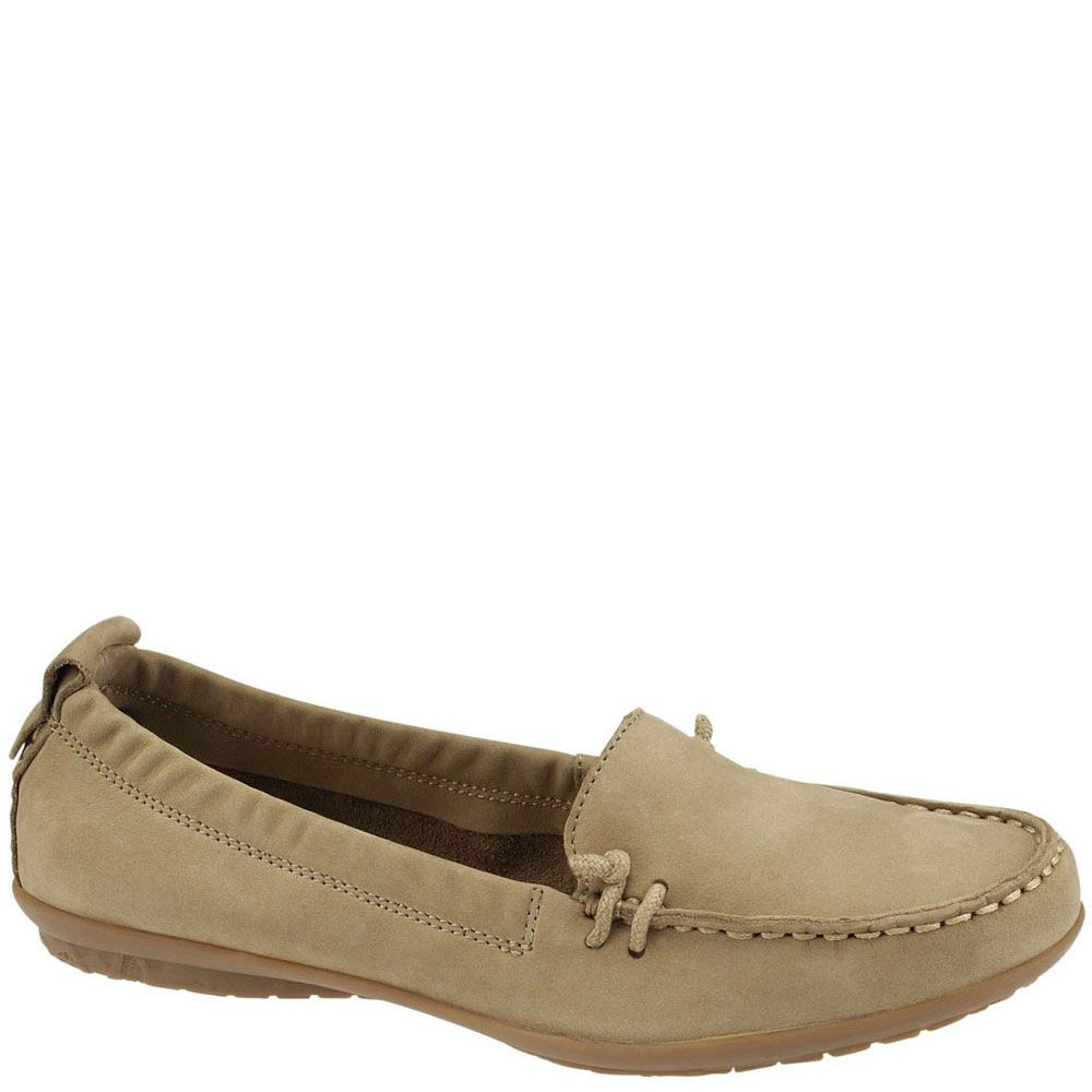 H505881 Hush Puppies Women S Ceil Slip Casual Shoes Taupe