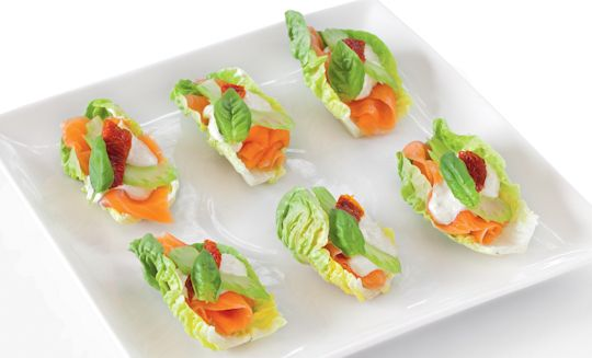 Smoked Salmon Rolls  Recipe  Salmon Finger foods and Lettuce