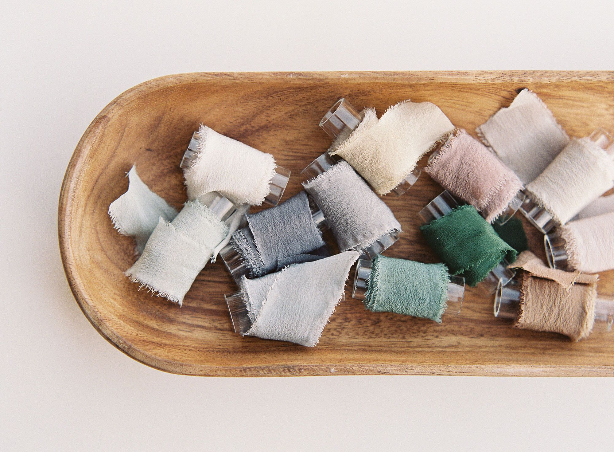 A curated collection of hand dyed ribbons with tono & co. for Utterly Engaged.