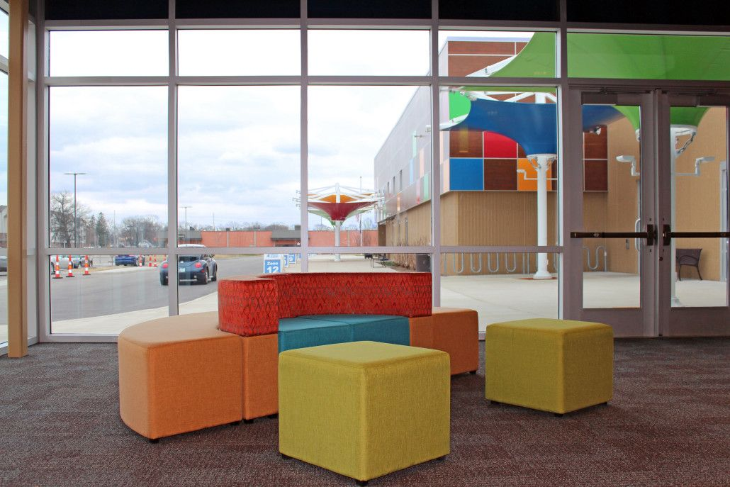 Success Academy South Bend   Prefunction Flexible Thonet Furniture; Corner  Grouping : Educational Facility Design