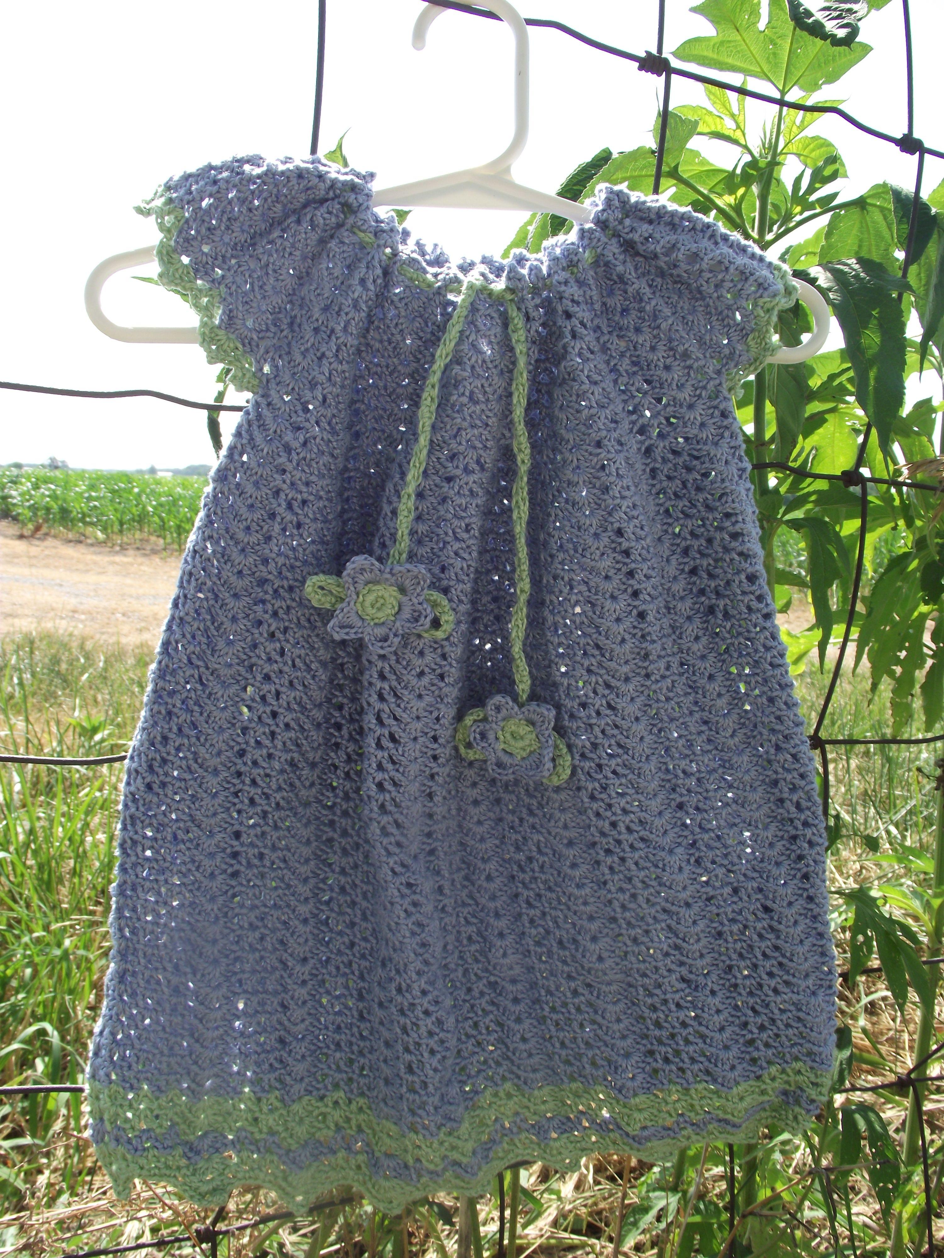 Mary Maxim Summer Breeze Baby Dress that Susannah crocheted   Fiber ...