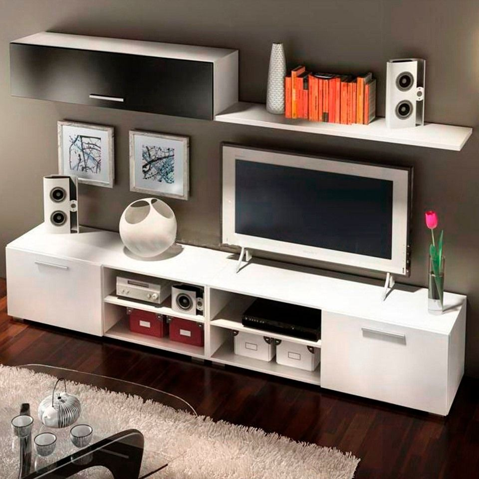 Modular lcd rack panel tv moderno living fabrica baires 4 for Disenos de modulares para living