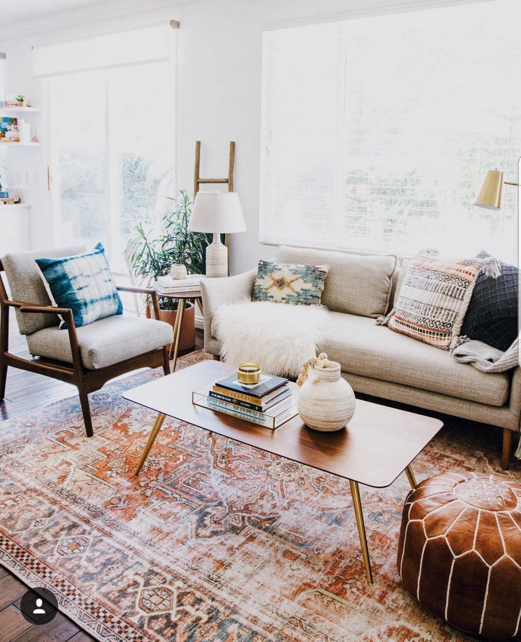 Bohemian Eclectic Loving Room With Light Gray Couch