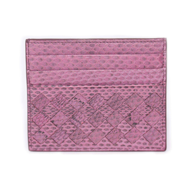 e9162451501 Shop authentic Bottega Veneta Intrecciato Snake Skin Card Holder at ...