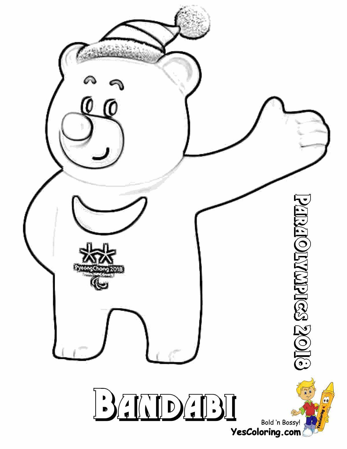 Print Out This Paraolympics Mascot Bandabi Coloring Page